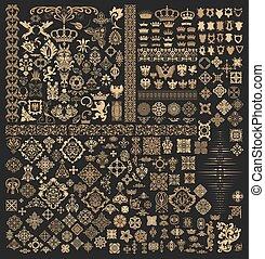 Mega conjunto de elementos barrocos