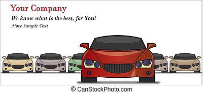 mejor, coche, ilustración, venta