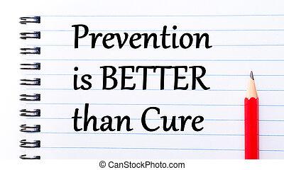 mejor, entonces, curación, prevención, texto