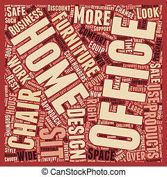 Mejora tu productividad de trabajo con cómodas sillas de oficinas texteas el concepto de palabra de fondo