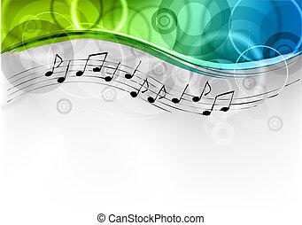 melodía, plano de fondo