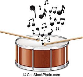 melodía, tambor