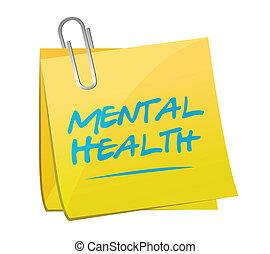 Memo de salud mental post ilustración