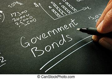 memorándum, inscripción, calculation., página, gobierno, bonos