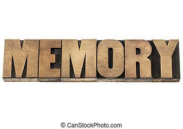 Memoria en madera