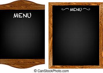 menú, conjunto, texto, tabla, restaurante