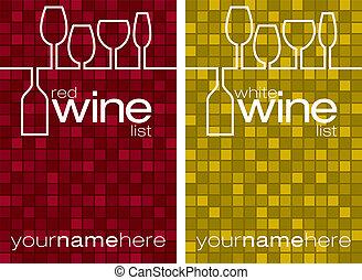 Menú de vino