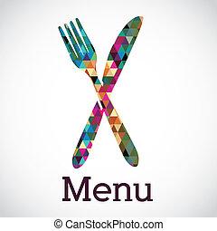 menú, diseño