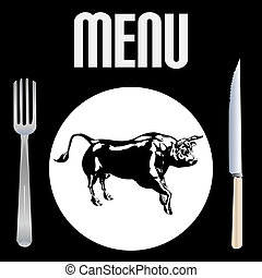 menú, filete