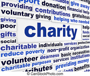 mensaje, caridad, asunto, social