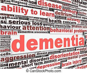 Mensaje de demencia diseño conceptual