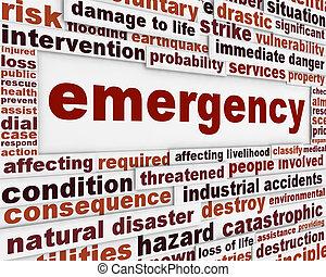 Mensaje de emergencia de fondo conceptual