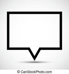 Mensaje, el símbolo del icono se aísla en el fondo blanco, ilustración de vectores