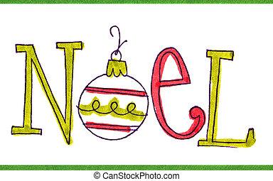 mensaje, noel, tarjeta de navidad