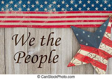 Mensaje patriótico de América
