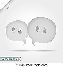 Mensaje, pictografía de discusión, icono de chat - ilustración vectorial