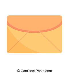mensaje, sobre, correo