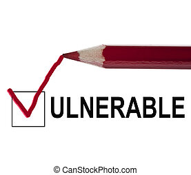 mensaje, vulnerable