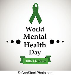 mental, mundo, día, salud