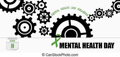mental, postal, día, salud