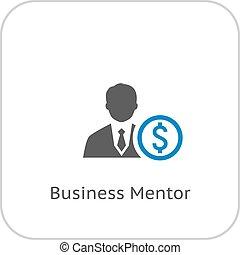 Mentor icono. Un concepto de negocios.