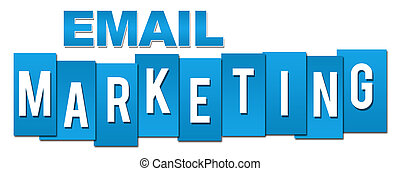 Mercadeo de correo electrónico profesional azul