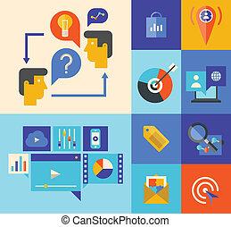 Mercadeo Web y iconos alucinantes