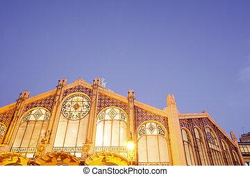 Mercado central en Valencia, España.