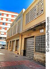 mercado, central, fachada, elche