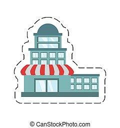 Mercado de construcción de dibujos animados