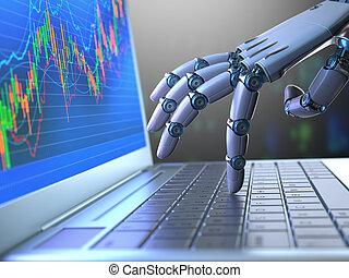 Mercado de robots de bolsa