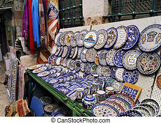 Mercado en Jerusalén, Israel