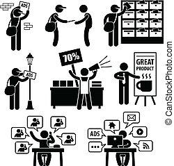 mercadotecnia, anuncio, estrategia