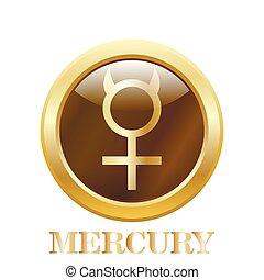 Mercurio. Ilustración de vectores.