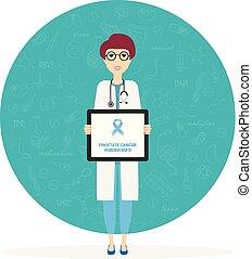 Mes de concienciación del cáncer de próstata. Ilustración de vectores