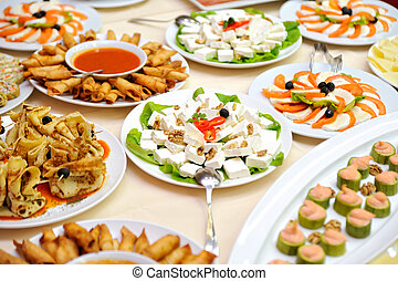 Mesa con comida