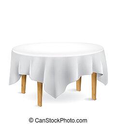 Mesa con mantel