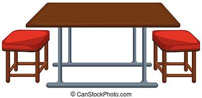 Mesa de cantina y sillas