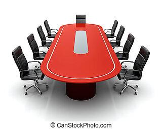 Mesa de conferencias.