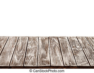 Mesa de madera vacía