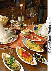 Mesa de tapas españolas