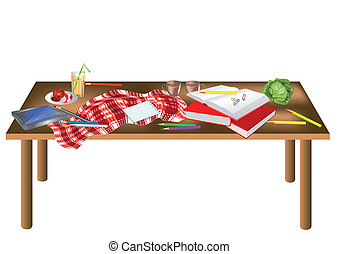 Mesa desordenada
