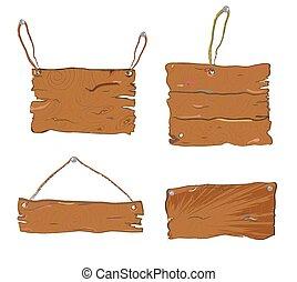 Mesas texturizadas de madera, diseño dibujado a mano