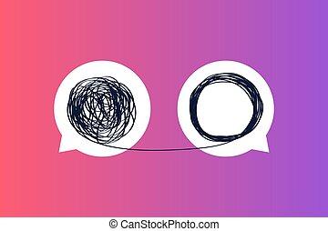 metáfora, se desmoronar, mentor, actuación, entrenador, enredado, mensaje, empresa / negocio, línea., iconos, o