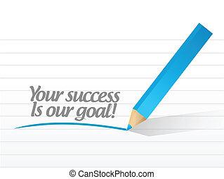 meta, éxito, ilustración, diseño, nuestro, su