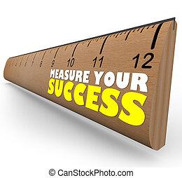 meta, regla, revisión, tasar, crecimiento, medida, progreso, su