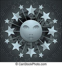 metal, celestial, luna