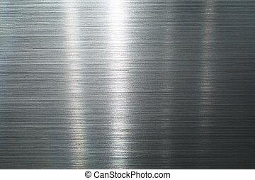 metal, cepillado, placa