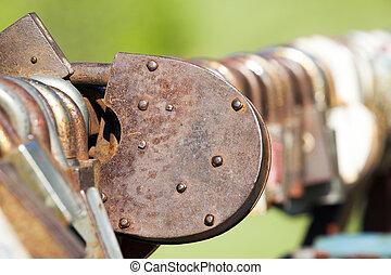 metal, cerradura