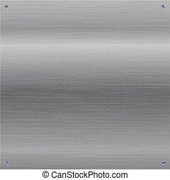 metal dado brillo, screws., cepillado, plano de fondo, brillante